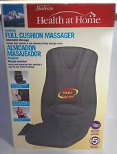 Sunbeam Soothing Full Cushion Massager W/ Auto/ AC Adapter 5 Motor