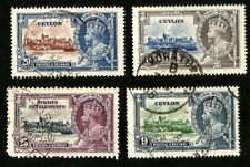 1935 King George V Silver Jubilee Used Stamps from Ceylon & Straits Settlements