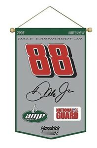 Mounted Memories Dale Earnhardt Jr. 24'' x 36'' Wool Banner With Wood Pole Nice