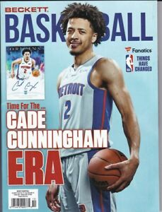 October 2021 Basketball Beckett Monthly Price Guide Vol 32 No 10 Cade Cunningham