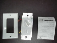 Leviton 6620-DW White WH DUAL FAN SPEED CONTROL / LIGHT DIMMER