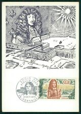 FRANCE MK 1970 VERSAILLES SCHLOSS CHATEAU LOUIS XIV MAXIMUMKARTE MAXI CARD ec95