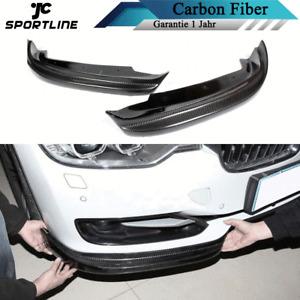 Carbon Splitters Flaps Passt für BMW 3ER F30 Limo 12-15 Front Stoßstangen Lippe
