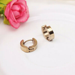 Fashion Male And Female Gold Polished Stainless Steel Earrings Punk Jewelry Gift
