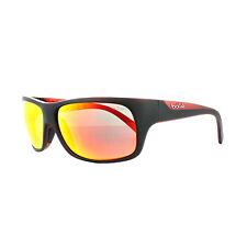 Bolle Occhiali da Sole Viper 11949 Nero OPACO Rosso Tns Rosso Fuoco Specchio