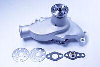 Small Block Chevy 283 327 350 High Volume Aluminum Short Water Pump Satin SBC