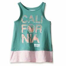 Levi's Girls' Cotton Sleeveless Knit Tank, California, X-Large