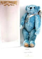 Vintage Merrythought Mohair Tuppenny Blue Bear Growler No 102 Boxed Real Stamp