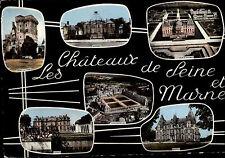 Schloss Chateaux de Seine et Marne Ansichtskarte France Carte Postale CPA ~1960