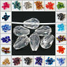 Wholesale 10/50Pcs Faceted Teardrop Glass Crystal DIY Charms Loose Spacer Beads