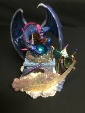 """""""Classic Treasures"""" Musical Lighted Merlin and Dragon Sculpture"""