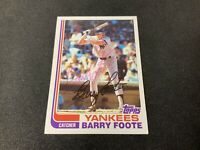 1982 Topps #706 New York Yankees Barry Foote Autographed Baseball Card!