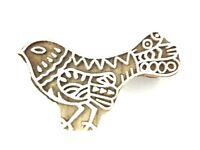 Bird Printing Block Wooden Stamp Block Hand-Carved, Pottery Crafts and Textile
