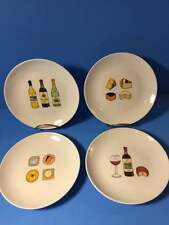 Four Boston Warehouse Gourmet Porcelain Wine and Cheese Plates