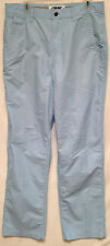 Men's Mountain Khakis Outdoor Hike Fish Light Blue Pants Size 34X36