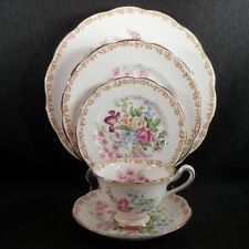 FS-00011 Royal Albert NOSEGAY 5pc Place Set- Dinner/Salad/Bread/C&S *AS IS*