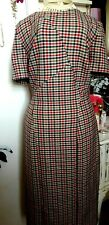 M&S Collection tartan Midi pencil Lined Dress Size 12