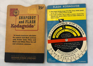 Kodak  Kodaguide Snapshot and Flash Guide Made in USA Vintage