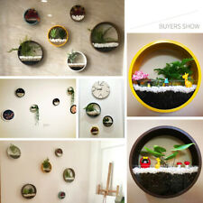 2PCS Round Hanging Wall Vase Wall Decor Decoration Planter for Herbs Succulents