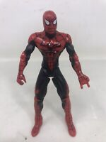"Vintage 1996 Spider-Man 5"" Action Figure Marvel Toy Biz Techno Wars Black/red"