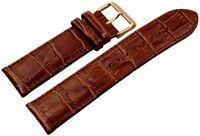 Engelhardt Echt-Leder Uhren Armband Braun Gold 24 mm Dornschließe X8000502240