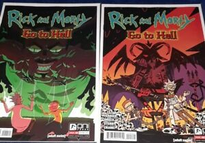 Rick & Morty Go to Hell #4 ONI Press 2020 |  [Main + Variant] | 2 Book Lot