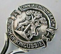 Solid Silver Souvenir Spoon, Burgh of Kingussie, 1910