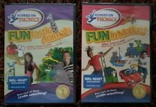 LOT OF 2! Hooked on Phonics FUN in Motion & FUNtastic Animals Music Videos. DVD!