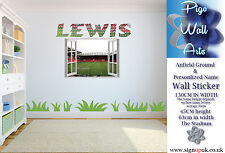 Anfield Stadium Liverpool F.C.Wall Sticker Kids Bedroom 3D Window & Any Name
