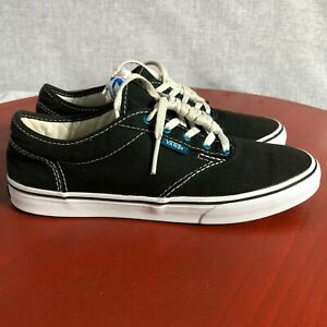 Vans Authentic Off The Wall Women's Size 7 Shoes Black White Low Top Sneakers