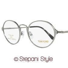 Tom Ford Round Eyeglasses TF5350 014 Size: 48mm Ruthenium/Black FT5350