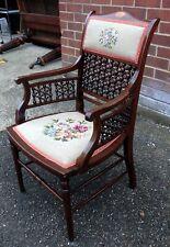 More details for arts & crafts aesthetic movement liberty antique moorish mashrabiya armchair