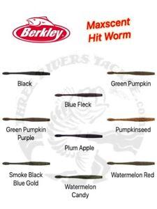 """Berkley PowerBait MaxScent 4.5"""" Hit Worm - Choose Color"""