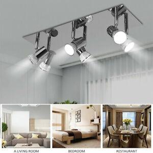 6 Way LED Ceiling Spot Light Fitting Modern Adjustable Spotlight Lighting UK