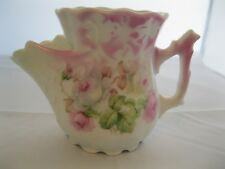 Shaving Scuttle Mug Cup Germany 201 Pink Roses Floral Porcelain Antique