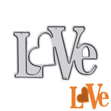 LOVE Cutting Dies Stencil DIY Scrapbooking Album Card Paper Embossing Craft