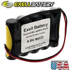 Exell 6V 1000mAh (5xAA) NiCd Custom Battery Pack w/ Wire Leads