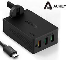 New Aukey PA-T14 QC 3.0 3 Port USB Charger Wall Adapter