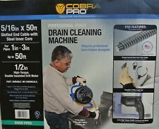 Cobra Pro Cp2040 Drain Cleaning Machine 1 To 3 Pipes 50 Ft Plumbing Tool