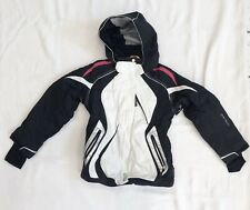 Girls Black And White With Hot Pink Trim Obermeyer Ski Jacket Sz 10 PRISTINE!!