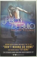 JASON DERULO 2012 FUTURE HISTORY promotional poster ~NEW~MINT~!
