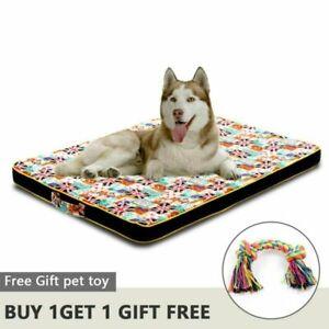 Large Dog Bed Mat Memory Foam Breathable  Oxford Bottom Orthopedic Mattress