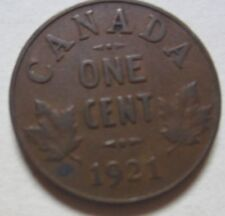 1921 Canada Small Cent Coin.