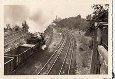 orig.foto ca.7x10cm Locomotive à vapeur ENREGISTREMENT DE PONT (G155)