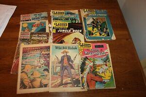 Lot of 9 Classics Illustrated comics