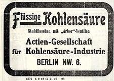 Actien-Gesellschaft für Kohlensäure-Industrie Berlin Kolonialwerbung von 1908