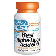 Doctors Best ácido alfa-lipoico - 180 - 600mg Cápsulas Vegetarianas-ANTIOXIDANTE UNIVERSAL
