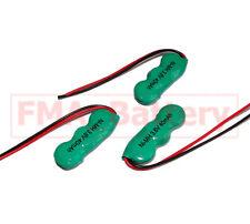 3Pcs Ni-MH Rechargeable Battery 3.6V 40MAH for VARTA PLC CMOS Backup Power US