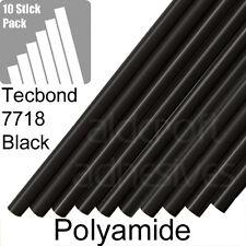 TECBOND 7718 Black Polyamide 12mm, 10 Hot Melt Glue Sticks, Foil pack