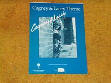 CAGNEY & LACEY THEME sheet music from TV show '82 4 pages (VG+ shape)
